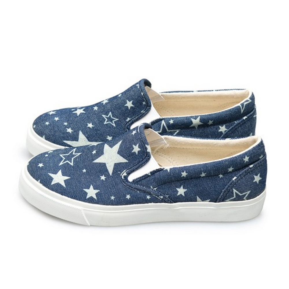 FUFA  MIT 街頭時尚懶人鞋 (U61)-星深藍