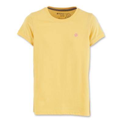 Hang Ten -女裝- 有機棉基本多彩T-SHIRT- 黃