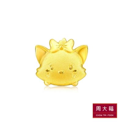 周大福 TSUM TSUM系列 瑪莉貓黃金耳環(單支)