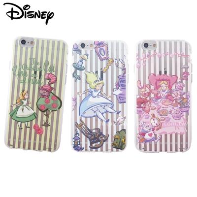 Disney迪士尼iPhone 6/6S(4.7吋)愛麗絲彩繪保護軟套