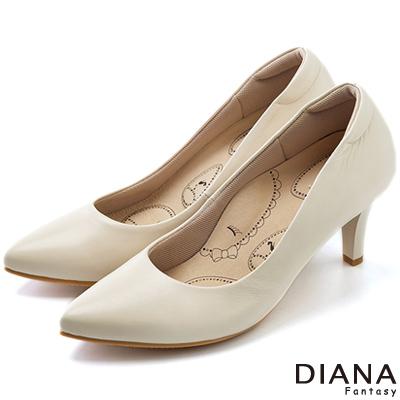 DIANA-超厚切布朗尼美人D款-第三代真皮制鞋