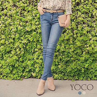 東京著衣 經典美型顯瘦剪裁窄管單寧牛仔褲-S.M.L(共二色)