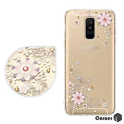 Corner4 Samsung Galaxy A6+ 奧地利彩鑽防摔手機殼-風鈴...