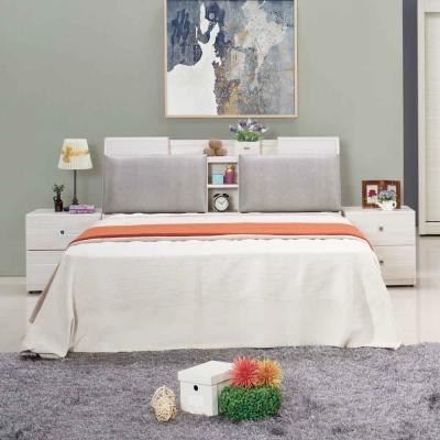 AT HOME 克里斯5尺雪杉白雙人床(不含床墊)