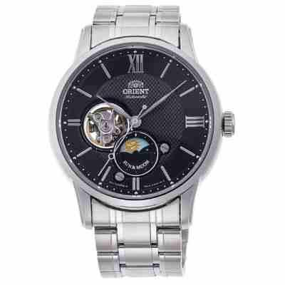 ORIENT 日本 東方錶 心靈致動 月相機械錶(RA-AS 0002 B)黑/ 42 mm