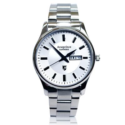 Arseprince 復刻回憶雙日顯示腕錶~白色 38mm