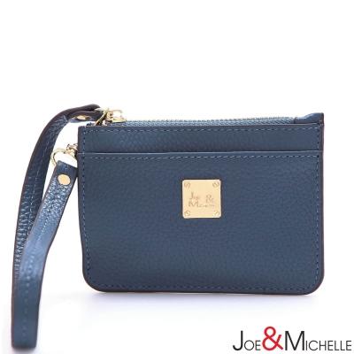 J-M-真皮優里紗票卡零錢包-晨星藍