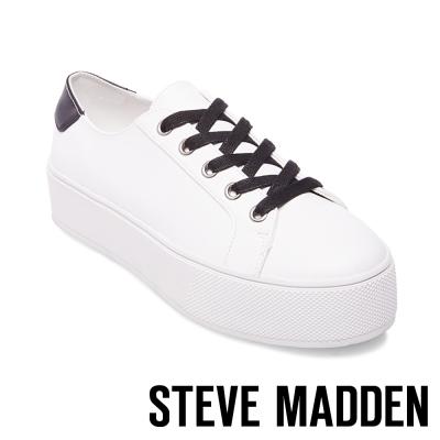 STEVE MADDEN-FELECIA-WHITE 綁帶厚底鞋-白色