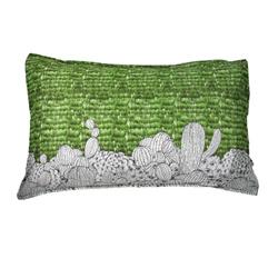Yvonne Collection 平織仙人掌印花枕套-草綠