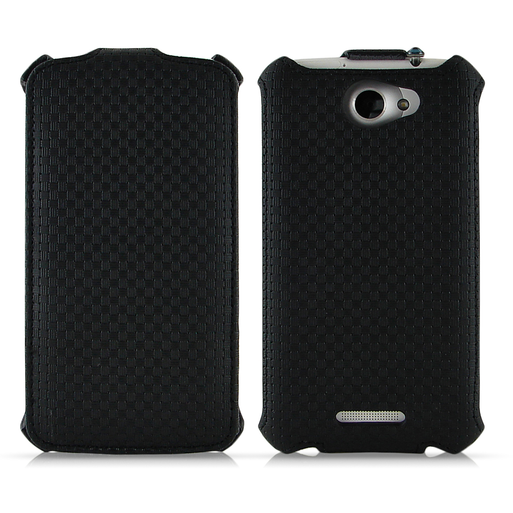 Miravivi HTC ONE X 掀蓋式編織紋皮革保護皮套