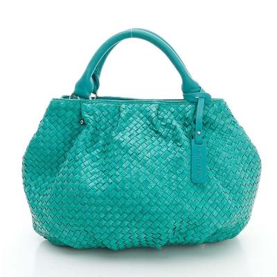 LouiseC. 蛇皮編織圓潤款側背包 - 綠色 LC3199-08