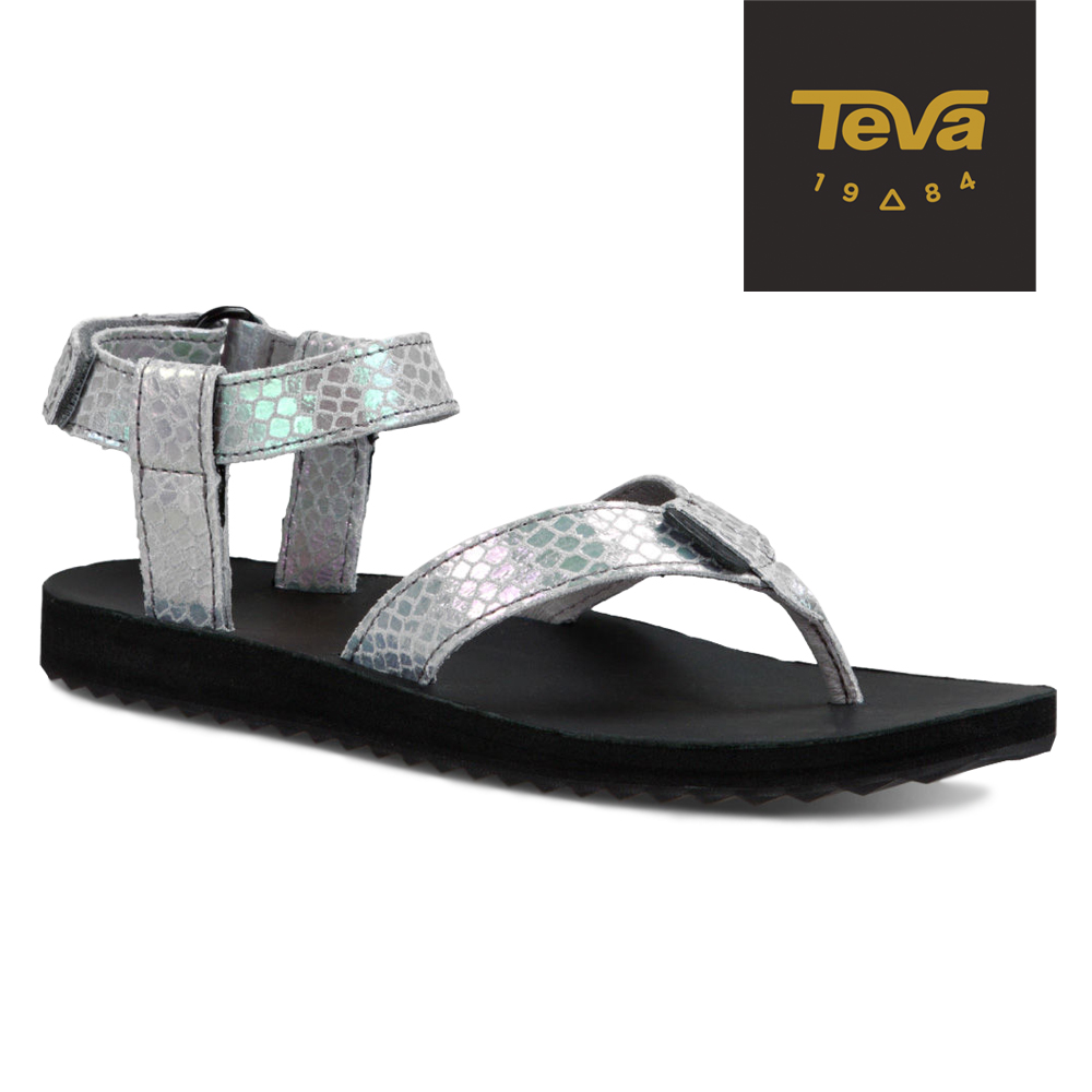 TEVA 美國-女 Original Sandal 真皮涼鞋 (蛇紋白)