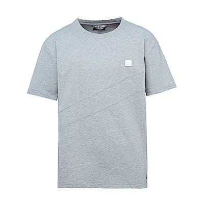 FILA x plain-me 聯名系列 短袖圓領T恤-麻灰1TES-1484-MY
