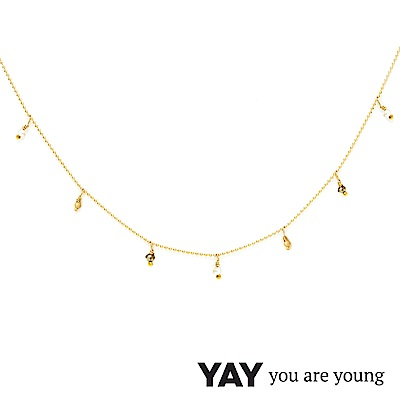 YAY You Are Young 法國品牌 Frida 寶石花束項鍊 白珍珠X星辰豆豆