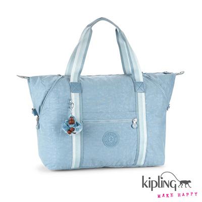 Kipling-手提包-灰藍色素面