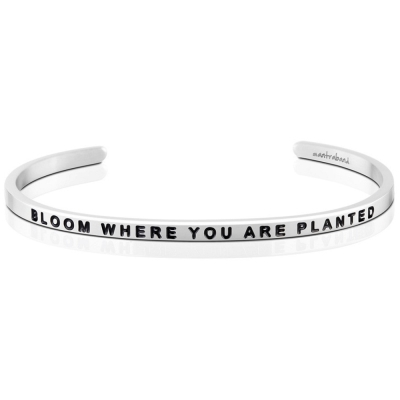 MANTRABAND Bloom Where You Are Planted 銀色手環