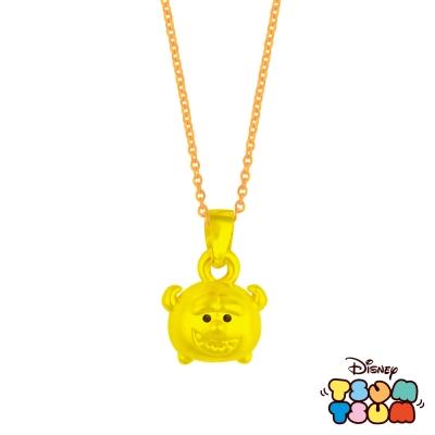 Disney迪士尼TSUM TSUM系列金飾-黃金墜子-毛怪款 送玫瑰鋼項鍊