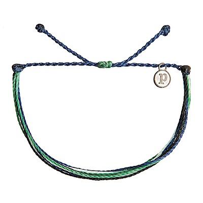 Pura Vida 美國手工 Carnival Bazaar 深藍綠色系基本繽紛款可調手鍊