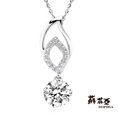 蘇菲亞SOPHIA 鑽石項鍊-翡麗思0.50克拉FVVS1鑽鍊