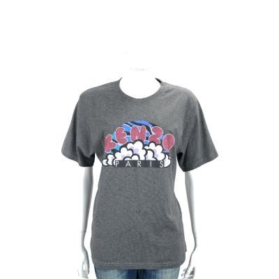 KENZO Glittered Logo 灰色雲朵印花棉質短袖T恤