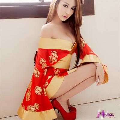 Moira 火紅金玫瑰三件式和服角色扮演服