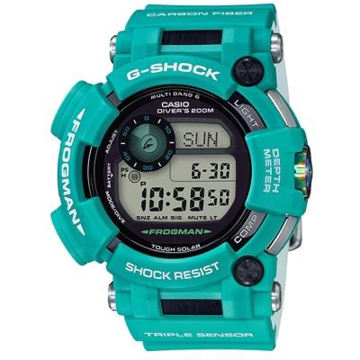 G-SHOCK潛水蛟蛙海底王者進化版六局電波錶(GWF-D1000MB-3)翡翠藍綠53.3mm