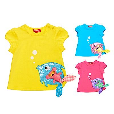 WHYAND 1/2 mini 公主袖棉質萊卡T恤 1Y~4Y 多色可選