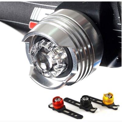 紅寶石自行車鋁合金-防水廣角警示照明尾燈-銀鑽石紅光