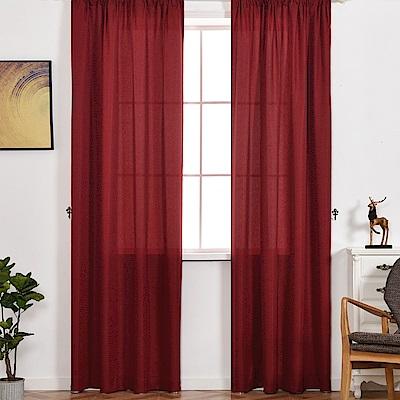 伊美居 - 羅浮宮單層半腰窗簾 - 單片130x165cm (共2片)