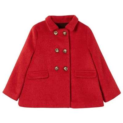 I Love Gorgeous 雙排釦大衣外套-紅