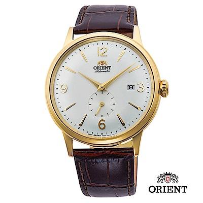 ORIENT 東方錶 DATEⅡ機械錶 金框白面 皮帶款 - 40 . 5 mm
