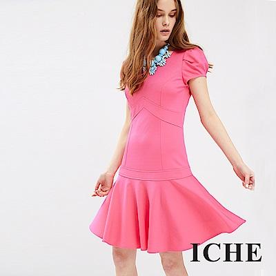 ICHE 衣哲 甜粉傘襬造型洋裝