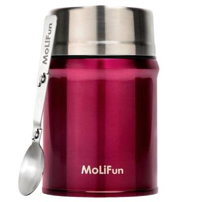 MoliFun魔力坊 316不鏽鋼輕量真空保鮮保溫悶燒罐/悶燒杯800ml