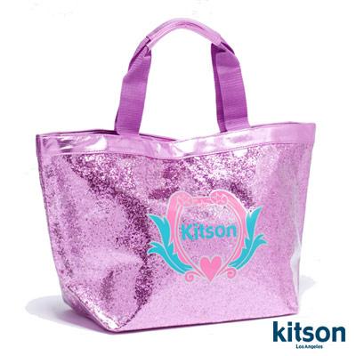 kitson 晶鑽砂LOGO 托特包(粉)