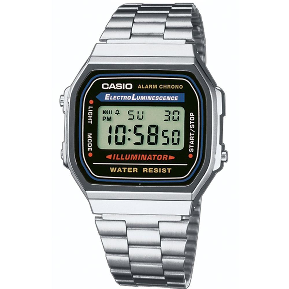 CASIO  城市光廊數位腕錶 (銀色版)