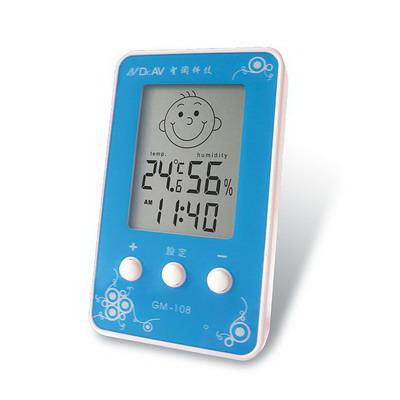 聖岡 3合1智能液晶溫溼度計(壁掛/座立)兩用