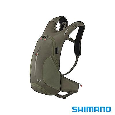 SHIMANO ROKKO 全功能背包-無水袋 12L 橄欖綠