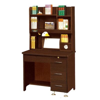 北歐風-Rita胡桃3尺書桌全組-90x60x16