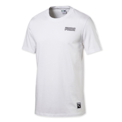 PUMA-男性流行系列Record短袖T恤-白色-亞碼