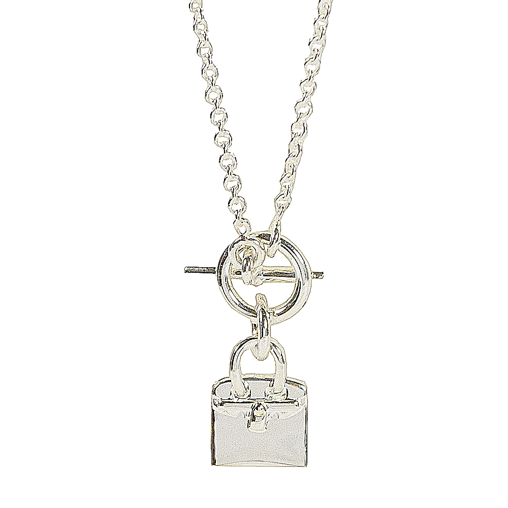 HERMES BIRKIN包包造型純銀項鍊