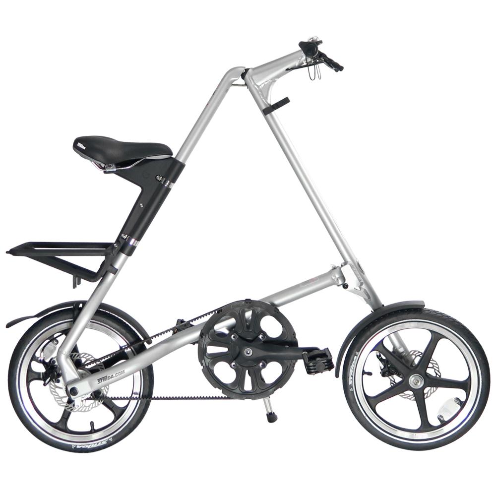 STRiDA 速立達 16吋LT折疊碟剎單車(三角形單車)- 噴砂銀