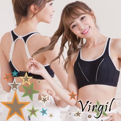 運動內衣  活躍動力高強度運動內衣(個性黑) virgil維琪兒