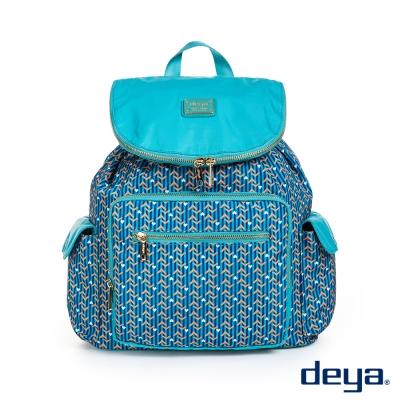 後背包 deya繽紛幾何防潑水輕量束口後背包