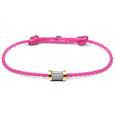 CHARRIOL 夏利豪 Forever 色彩拉繩粉紅色手環