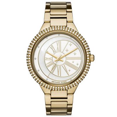 Michael Kors  月之魔法陣晶鑽時尚腕錶-(MK6550)-白x金/40mm