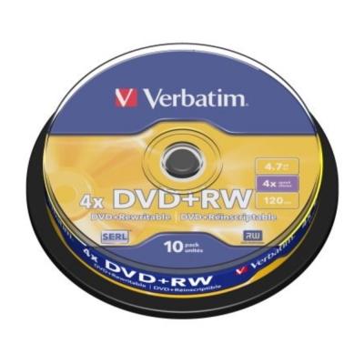 威寶 Verbatim  4X DVD+RW 4.7GB 10片