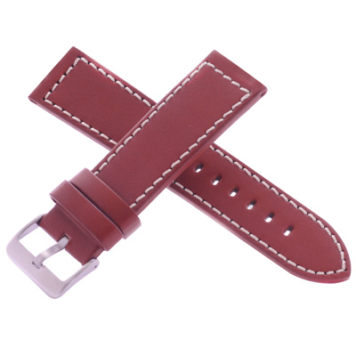 旺旺精品 沛納海代用皮帶名廠同級羅曼卡其色車米色線牛皮錶帶-24*22mm