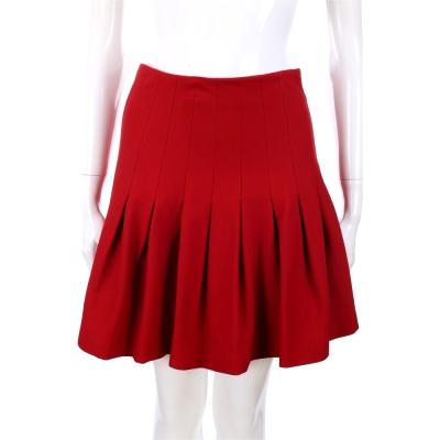 PLEIN SUD JEANIUS 百褶設計短裙(紅色)
