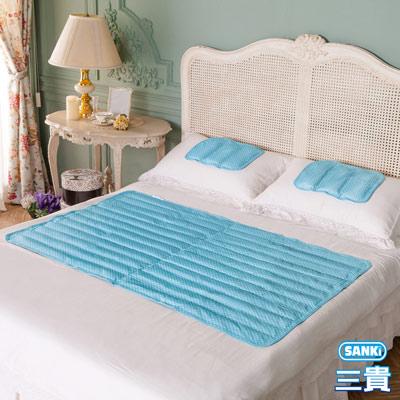 日本三貴SANKi 小資普普風 冷凝+散熱涼墊組1床2枕(90x140Cm)