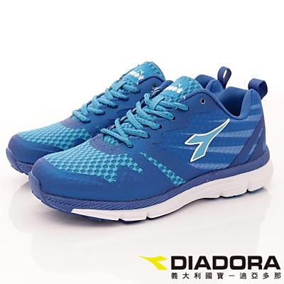 DIADORA-乳膠動能跑鞋款-RSI016藍(女段)